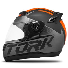 Capacete Fechado Pro Tork Evolution G7 Preto e Laranja Fosco