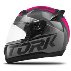 Capacete Fechado Pro Tork Evolution G7 Preto e Rosa