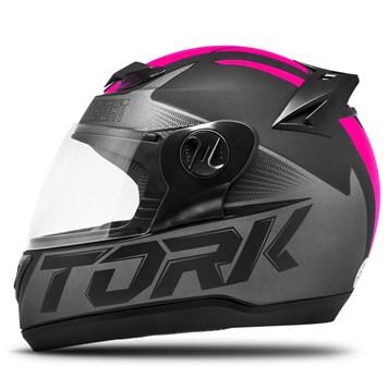 Capacete Fechado Pro Tork Evolution G7 Preto e Rosa Fosco