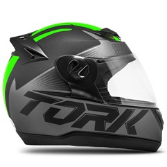 Capacete Fechado Pro Tork Evolution G7 Preto e Verde Fosco