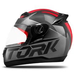Capacete Fechado Pro Tork Evolution G7 Preto e Vermelho