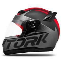 Capacete Fechado Pro Tork Evolution G7 Preto/Vermelho Fosco