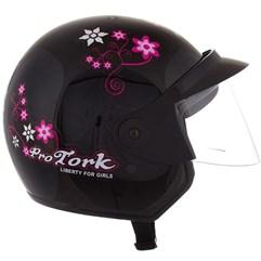 Capacete Feminino Aberto Pro Tork Liberty 3 For Girls Preto
