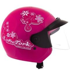 Capacete Feminino Aberto Pro Tork Liberty 3 For Girls Rosa