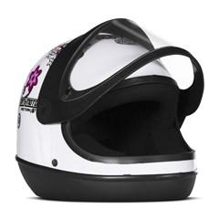 Capacete Feminino Automático Pro Tork SM Sport Moto For Girls Branco