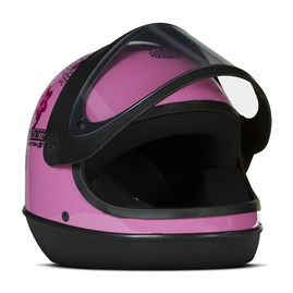 Capacete Feminino Automático Pro Tork SM Sport Moto For Girls Rosa
