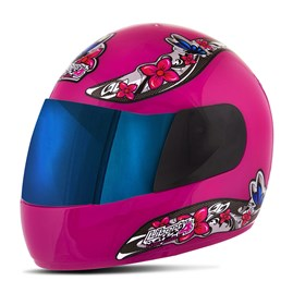 Capacete Feminino Pro Tork Liberty 4 For Girls Viseira Iridium