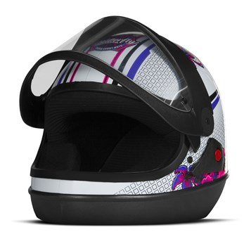 Capacete Feminino Pro Tork Super Sport Moto Butterfly Brilhante ... d1a5067f22c