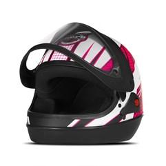 Capacete Feminino Pro Tork Super Sport Moto Power Girls Fosco