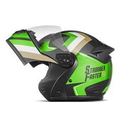 Capacete Gladiator Etceter Stronger Faster Brilhante Verde - Dourado