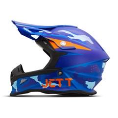 Capacete Jett Cross Fast Factory Edition 3 Azul - Laranja