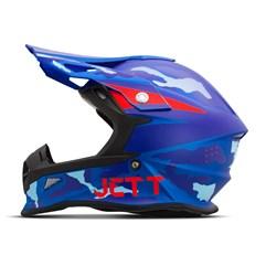 Capacete Jett Cross Fast Factory Edition 3 Azul - Vermelho