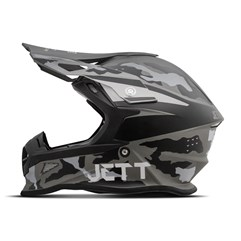 Capacete Jett Cross Fast Factory Edition 3 Cinza