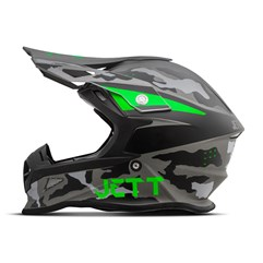 Capacete Jett Cross Fast Factory Edition 3 Verde