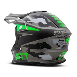 Capacete Jett Cross Fast Factory Edition 3 Verde