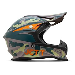 Capacete Jett Cross Fast Factory Edition 3 Verde - Laranja