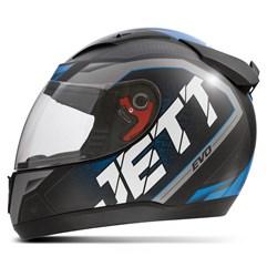 Capacete Jett Modelo Evo Line Brilhante Azul