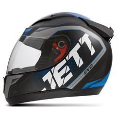 Capacete Jett Modelo Evo Line Fosco Azul