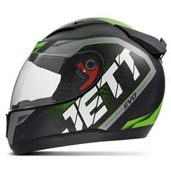 Capacete Jett Modelo Evo Line Fosco Verde