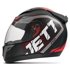 Capacete Jett Modelo Evo Line Fosco Vermelho