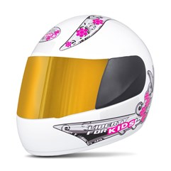 Capacete Liberty Four Kids For Girls VIS.DOURADA