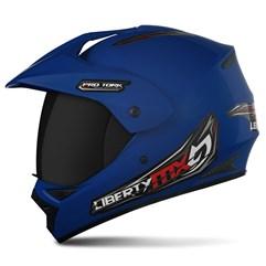 Capacete Liberty MX Pro Vision Azul VIS.FUME