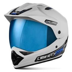 Capacete Liberty MX Pro Vision Branco Viseira Iridium