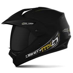 Capacete Liberty MX Pro Vision Preto Fosco VIS.FUME