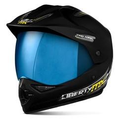 Capacete Liberty MX Pro Vision Preto Fosco Viseira Iridium