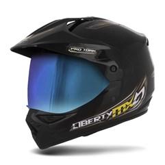 Capacete Liberty MX Pro Vision Preto Viseira Camaleão