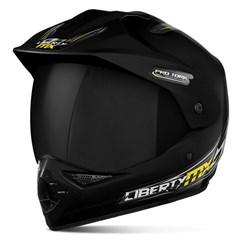 Capacete Liberty MX Pro Vision Preto Viseira Fumê
