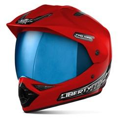 Capacete Liberty MX Pro Vision Vermelho Viseira Iridium