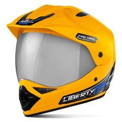 Capacete Liberty MX Pro Vision VIS.CROMADA