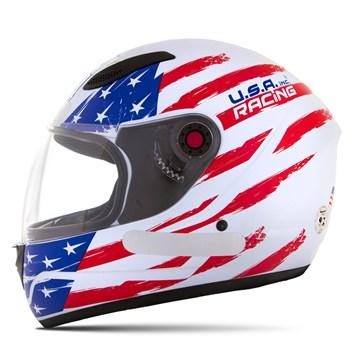 Capacete Mixs Mx Fokker Sport Usa Racing