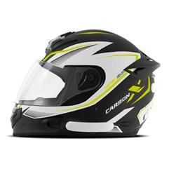 Capacete Mixs MX2 Carbon X Amarelo Fosco