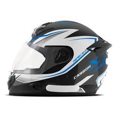 Capacete Mixs MX2 Carbon X Azul Brilhante