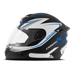 Capacete Mixs MX2 Carbon X Azul Fosco