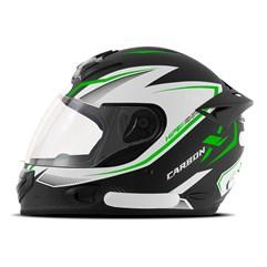 Capacete Mixs MX2 Carbon X Verde Fosco