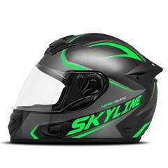 Capacete Mixs MX2 Skyline Verde Brilhante