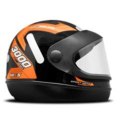 Capacete Mixs Sport Moto Automatic 3000 Laranja