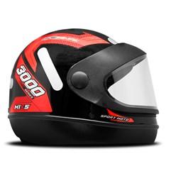 Capacete Mixs Sport Moto Automatic 3000 Vermelho