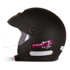 Capacete Moto Aberto Compact Summer For Girls Pro Tork Preto