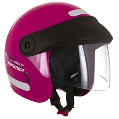 Capacete Moto Aberto Compact Summer For Girls Pro Tork Rosa