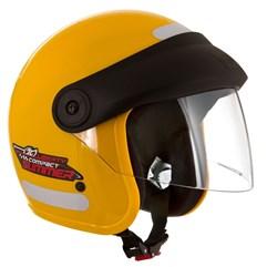 Capacete Moto Aberto Compact Summer Pro Tork Amarelo