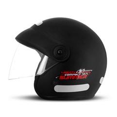 Capacete Moto Aberto Compact Summer Pro Tork Preto Fosco