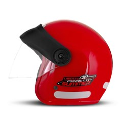 Capacete Moto Aberto Compact Summer Pro Tork Vermelho