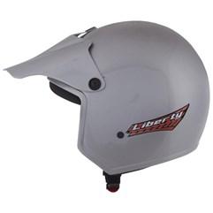 Capacete Moto Aberto Liberty Pro Tork Prata