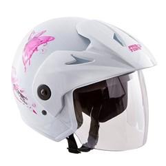 Capacete Moto Aberto Pro Tork Atomic For Girls Branco
