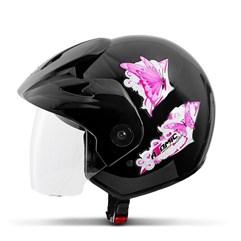 Capacete Moto Aberto Pro Tork Atomic For Girls Preto