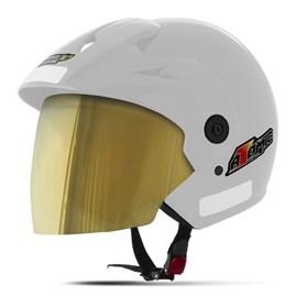 Capacete Moto Aberto Pro Tork Atomic Viseira Dourada